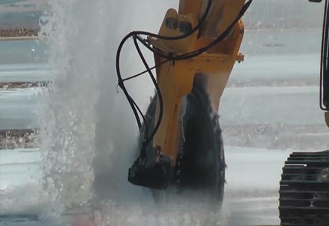 River Ice Cutting